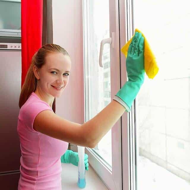 ניקוי חלונות ביתי עם סמרטוט