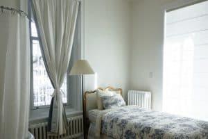 חדר שינה, וילון, מיטה