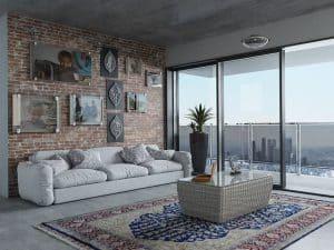 חלון, מרפסת, סלון, גובה, שטיחים