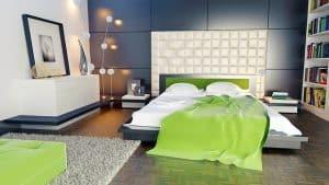 חדר שינה, מזרון, שמיכה ירוקה