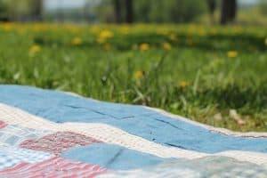 שמיכה, שמש, דשא