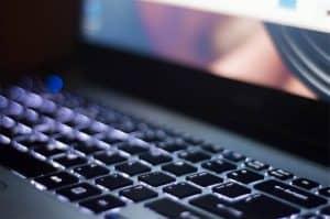 מקלדת, מחשב נייד