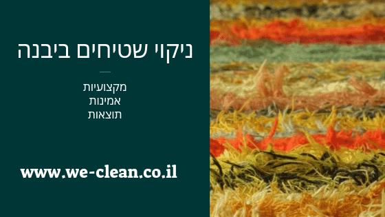 ניקוי שטיחים ביבנה - WeClean