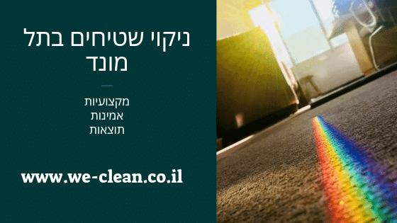 ניקוי שטיחים בתל מונד - WeClean