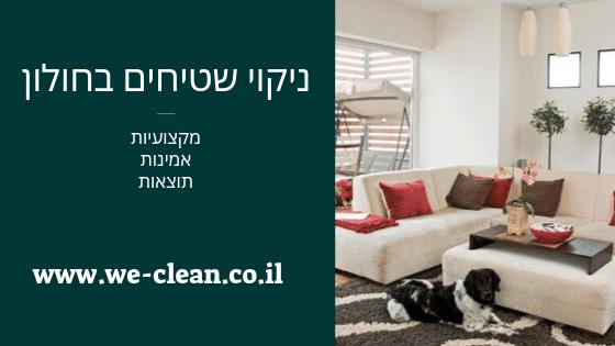 ניקוי שטיחים בחולון - WeClean
