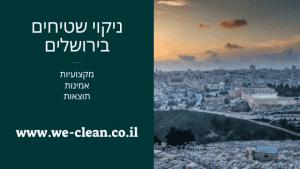 ניקוי שטיחים בירושלים - WeClean
