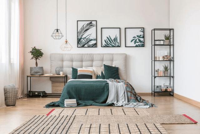 סלון, שטיחים, מזרונים, עיצוב נקי