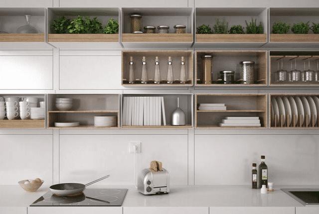 מטבח מסודר, טוסטר, כיור וארונות מטבח