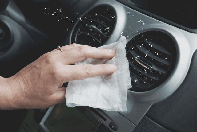 ניקוי פנים רכב, הסרת אבק במזגן רכב